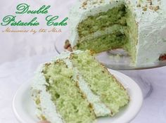 Double Pistachio Cake and Frosting   Dreamy Blog