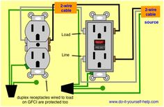 wiring diagram receptacle to switch to light fixture For