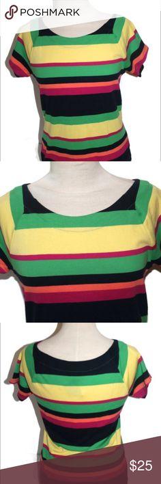 LRL Ralph Lauren Colorful Striped Top NWT SP 2015 Beautiful Lauren Ralph Lauren colorful striped top. 100% Cotton. Spring 2015 release. New with tags! Lauren Ralph Lauren Tops Tees - Short Sleeve