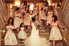 I might have to hire her! Photos by Aubrey Joy Photography Wedding Dress Pictures, Wedding Pics, Wedding Stuff, Wedding Ideas, Champagne Bridesmaids, Brides And Bridesmaids, Next Wedding, Dream Wedding, Wedding Photography Inspiration
