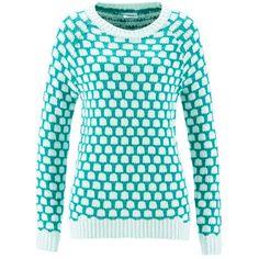 Pullover mit Muster ab 19,99 € ♥ Hier kaufen: http://stylefru.it/s175980 #tuerkis #pulli