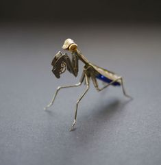 Tiny Insect Sculptures Made of Recycled Watch Parts (Justin Gershenson-Gates)