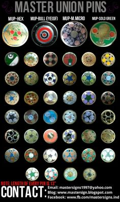 custom made master union pins mosaic pins collage complete catalog ...
