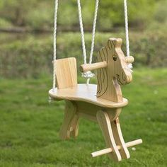 Trixi Wooden Horse Swing - There's plenty you can do with the kids to keep them entertained come rain or shine this summer.