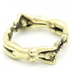 """Cockring et bijou """"Double Ring"""" bronze de Rosebuds."""