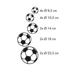 Muursticker Voetbal, set van 14