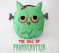 The Owl of Frankenstein- Handmade Felt Plush Toy. $35.00, via Etsy.