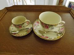 {Difference Between Coffee & Tea Cups} : ROYAL DOULTON ENGLISH ROSE.