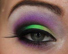 Makeup your Jangsara: Tutorial: Purple and bright green