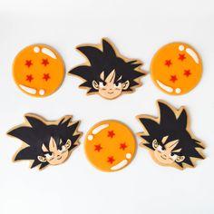 dragon ball z custom decorated cookies Goku Birthday, Ball Birthday, 10th Birthday, Birthday Decorations, Birthday Party Themes, Birthday Ideas, Dragonball Z Cake, Dbz, Dragon Z