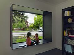 Bal House,© Bruce Damonte Love the projected window box trimmed in steel. Great way to create a seating nook