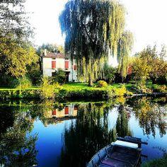 Landscape in the Marais Poitevin  http://www.visit-poitou-charentes.com/en/Marais-poitevin