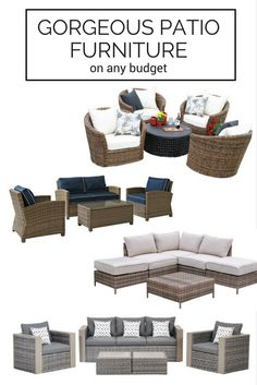 gorgeous patio furniture on any budget | conversation sets and outdoor sofas
