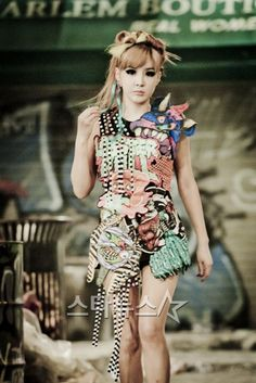 "Park Bom's costume for 2NE1's ""Ugly"" music video"