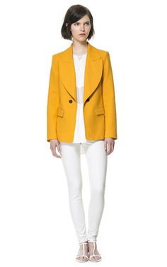 Image 1 of DOUBLE BREASTED COTTON BLAZER from Zara