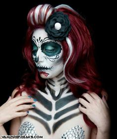 sugar skull hair styles 1000 images about dia de los muertos on day 2874