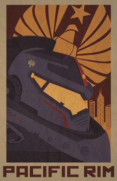 Fan Art submitted by lrdezign: As a fan of Pacific Rim and other monster films, I used my graphic design talents to create this poster specifically for Pacific Rim. It features Gypsy Danger. I made the poster in the style of constructivism propaganda. Hope you guys enjoy.