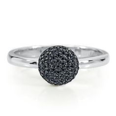 1/4ct TW Black Diamond Ring available at #HelzbergDiamonds