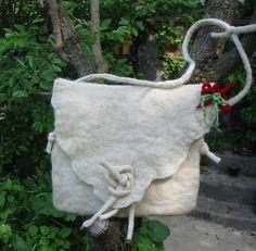 Felt bag, Felt Hip-Bag,Wool Felted Purse,Woman Felt Bag,Felt Hand Sholder bag,Handmade, OOAKFelt Bag-handmade, OOAK