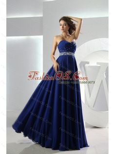 Electric Blue Modest A-line Sweetheart Zip up Chiffon Floor Length Prom Dresses Discount Prom Dresses, Prom Dresses Online, Cheap Prom Dresses, Pageant Dresses, Dress Prom, Evening Dresses, Prom Gowns, Party Dresses, Cheap Dress
