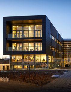Synfyns Elforsyning (Denmark) by  C & W Arkitekter A/S  Copyright : Uffe Johansen Arkitekturfotografi #Denmark #Architecture #QuartzZinc #AnthraZinc #Zinc #Façade #Cladding #VMZINC #ProjectOfTheDay