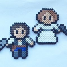 Han Solo and Princess Leia - Star Wars perler beads by  houseofvicness