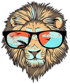 6ab1b413bfc lion with sunglasses images - Google Search