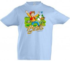 Kinder T-Shirt Peter, hellblau / Kids T-Shirt Peter, light blue / The boys like Peter. He's a funny, cheeky but loving boy. just like the little guys nowadays.