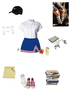 """""""// 2 kool 4 skool //"""" by little-space-girl ❤ liked on Polyvore featuring Proenza Schouler, Converse, CB2 and NIKE"""