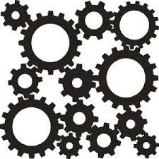 "These are Cogs. They ""connect together to make something function and or move. While each little or big cog is functioning something, it is making something else do something."
