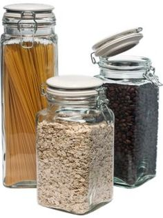 Glass storage jars from Vermont Country Store