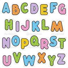 Typography Alphabet :: Polka Dot