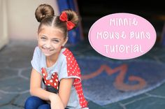 Learn how to recreate these adorable Minnie Mouse Buns hairstyle that will be a sure hit at the Disney Parks!  #DisneySide