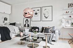 Glamour en 31 m² - Blog decoración estilo nórdico - delikatissen