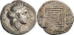 Stater - Knossos (320-330 b.C.) - Insights into Labyrinths on Ancient Coins