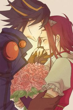 Anime Couple-Yusei and Aki