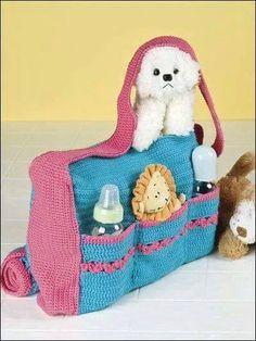 Örgü bebek bakım çantası