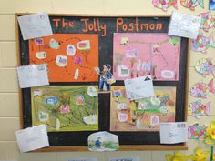 Today we learnt about the story of The Jolly Postman. We made our own maps of the Jolly Postman's journey as he delivered the letters to the different fairy tale ch… Office Christmas, Christmas Art, Spelling Activities, Activities For Kids, Jolly Christmas Postman, People Who Help Us, English Lesson Plans, Writing Area, Homeschool Books
