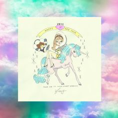 """Sweet Nothings"" by foxy illustrations Girly, Sweet Nothings, Rainbow Unicorn, Ethereal, Happy New Year, Illustration Art, Illustrations, Princess Zelda, Kawaii"