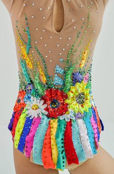 Rhythmic gymnastics leotard competition Ukrainian