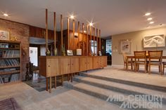 mid century michigan house mcm hot love the divider