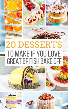 A collection of british bakes and recipes to inspire your inner Mary Berry. Cakes, pies, tarts, cookies and pastries with fresh and interesting takes. The post 20 Desserts to Make if You Love the Great British Baking Show appeared first on Food Monster. British Desserts, British Baking Show Recipes, British Bake Off Recipes, Baking Recipes, Great British Bake Off, Desserts To Make, Köstliche Desserts, Delicious Desserts, Plated Desserts