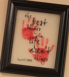 Great idea for little ones or babies.  They grow so fast so their little handprints and footprints will be cherished forever!
