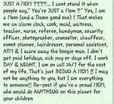 mommi, mother, famili, stay at home, true, inspir, quot, being a mom, thing