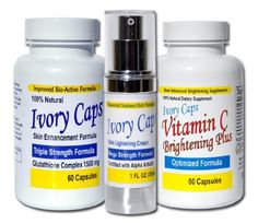 Ivory Caps Complete Skin Lightening Systems (System 1) by Ivory Caps Nutrition. $99.98. Ivory Caps Skin Lightening Systems comprise of Ivory Caps products that have been developed to synergistically work to provide the absolute finest results. Each System has been customized to meet the individual goals of our customers to help them look an feel their very best.. System 1 Includes 1 Bottle of Ivory Caps Skin Lightening Supplement, 1 Bottle of Ivory Caps Skin L...