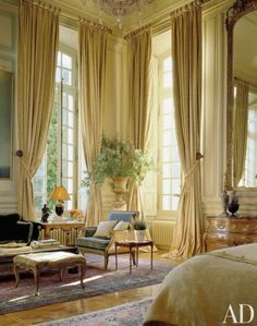 AD100 interior designer Timothy Corrigan transformed a neoclassical Loire Valley château. AD.