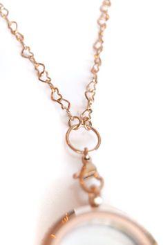 Open Heart Chain – 74cm (Rose Gold)