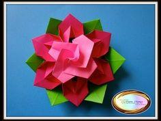 paper triangle box origami - YouTube