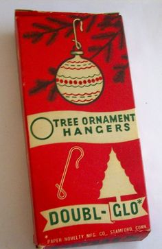 Vintage Christmas Tree Hooks Doubl-Glo  - Nice Graphics on Box. Original price 10 cents.  About 20 percent full.