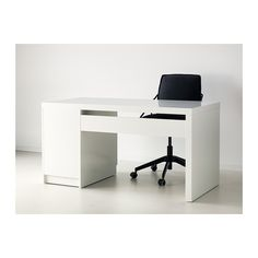 I made a slim desk from a cut up malm headboard and vika - Scrivania malm ikea ...